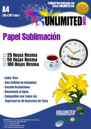 papel para sublimar,tintas Unlimited Ink