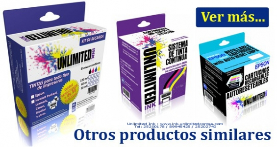Cartuchos, sistemas, tintas Unlimited Ink