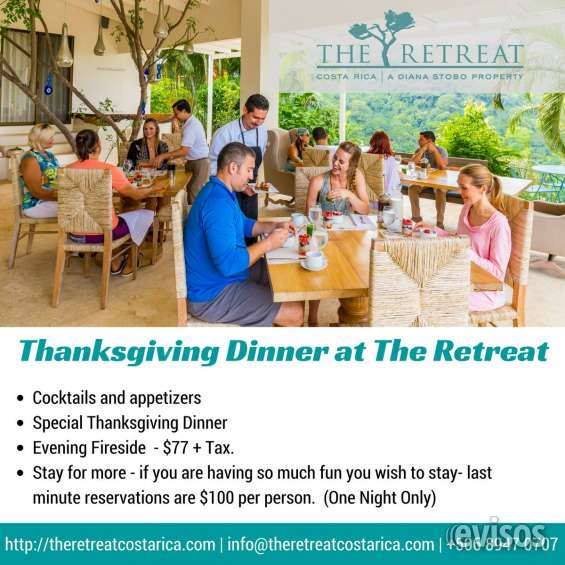 Thanksgiving dinner buffet the retreat costa rica
