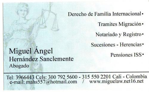 Colombianos en el exterior-abogados en cali tramitamos divorcios, documentos, papeleos leg
