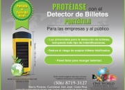 Detector de billetes portatil
