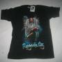 Vendo camisa negra con diseños de grupos Rock