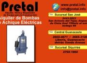 Alquiler de bombas electricas para agua El Pretal