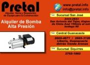 Alquiler de bombas de alta presion el pretal