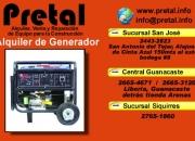 Alquiler de generador El Pretal