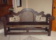 Muebles rústicos de madera y hierro