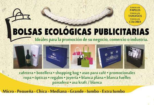 Bolsas ecologicas publicitarias todo negocio