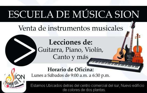 Academia de musica sion lecciones de guitarra