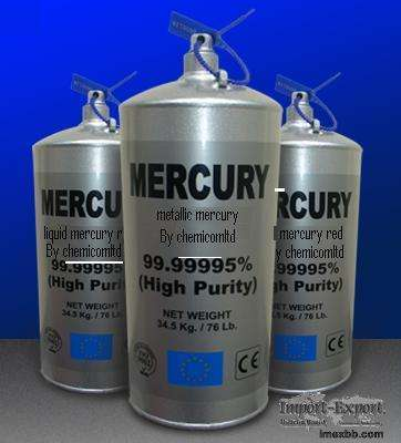 Blanco plateado mercurio de la pureza del 99,9%. (precio negociable)