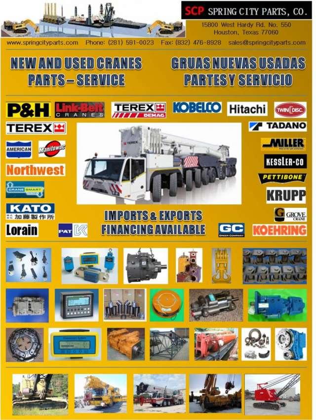 Gruas industriales nuevas, usadas, partes y accesorios