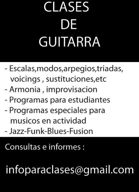 Guitarra clases online a distancia via skype