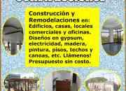 Construcción y Remodelaciones, Edificios, Casas, Oficinas, Locales comerciales.