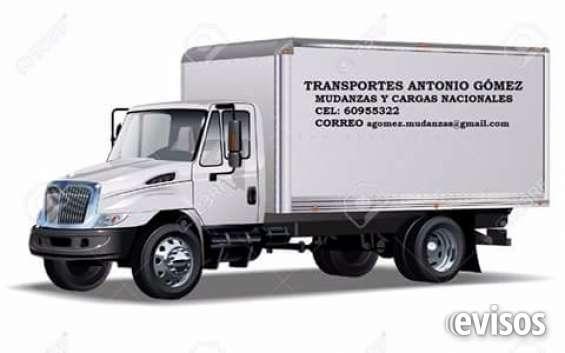 Ofrecemos servicio de transportes de cargas y mudanzas en todo el territorio