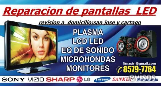 Reparacion de tv led smart tv plasma a domicilio san jose y cartago