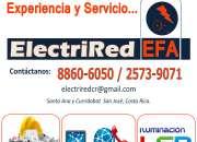 Electricistas y técnicos en redes en todo costa rica
