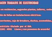 Electricista certificado por el ina