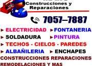 Fontanero,Electricista,Soldador,Reparaciones,Constructor,Pintor