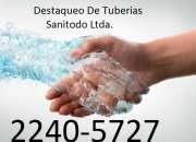 Servicio de destaqueo de tuberías y limpieza de tanques 2240-5727