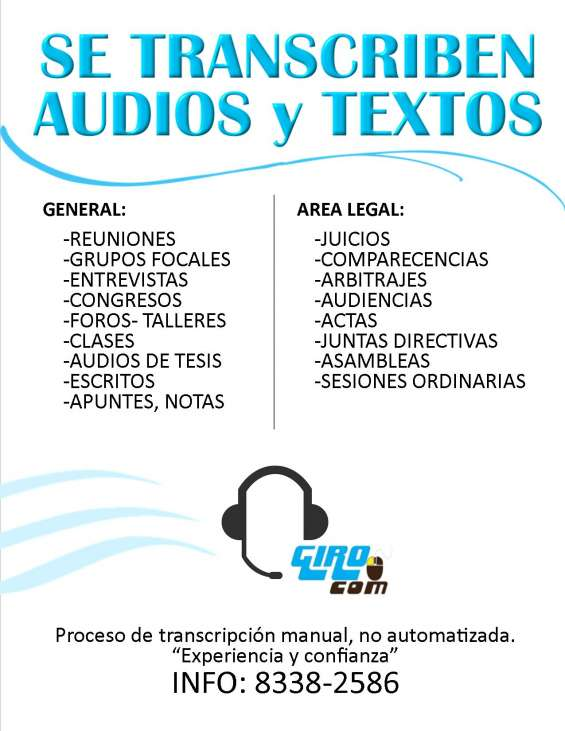 Transcripciones de audios