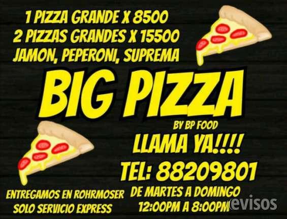 Big pizza rohrmoser extra grandes a solo ¢8.500 tel:8820 9801