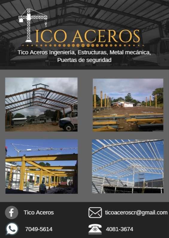 Estructuras metálicas, diseño y construcción.