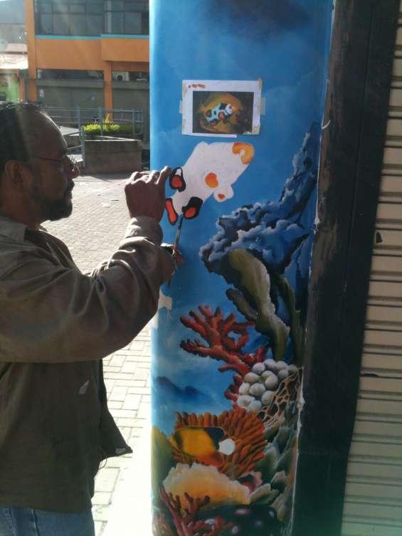 Pintado de murales infantiles, pintura artística, aerografìa & rotulacion (en pintura)