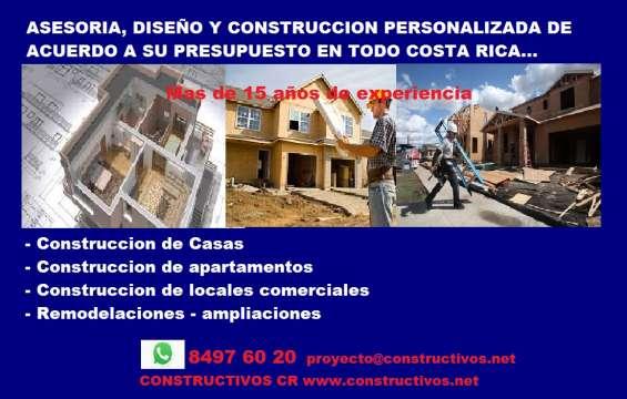 Construccion casas todo costa rica, construccion llave en mano, constructor de casas