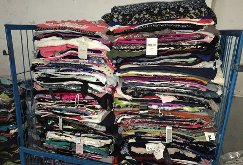 Exportacion de pacas de ropa usada