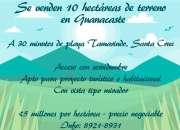 Se vende terreno en Guanacaste