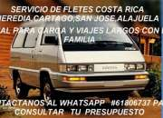 Taxi de carga liviana san jose,fletes heredia