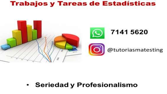 Trabajos y tareas de estadísticas