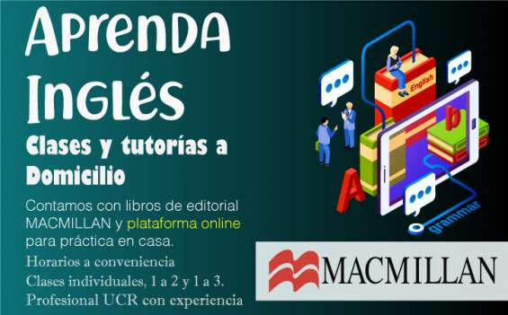 Aprenda inglés / a domicilio / clases individuales / profesional ucr