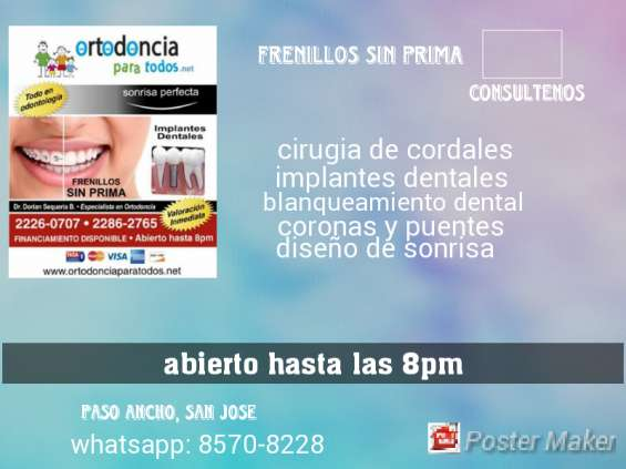 Frenillos sin prima e implantes dentales