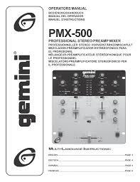 Mixer dj gemini 500