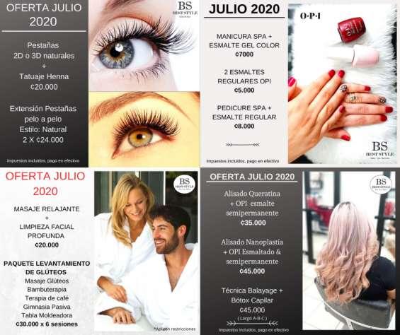 Tratamientos de belleza y estética en best style salon & spa