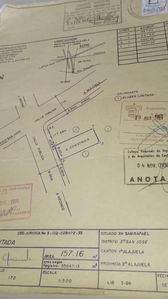 Lote 152 m2 en pueblo nuevo de alajuela